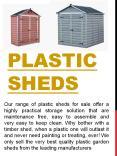 cheap plastic sheds