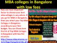MBA colleges in Bangalore with low fees PowerPoint PPT Presentation