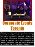 Corporate Events Toronto PowerPoint PPT Presentation