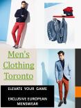 Custom Suits Toronto PowerPoint PPT Presentation