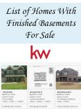 List of Homes With Finished Basements For Sale