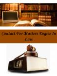 Contact For Masters Degree In Law PowerPoint PPT Presentation