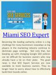 Top SEO Experts Miami PowerPoint PPT Presentation