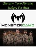 Monster Camo Hunting Jackets For Men