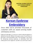 Korean Eyebrow Embroidery PowerPoint PPT Presentation