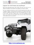 Upgrade Your Truck Bumper and Jeep Bumper PowerPoint PPT Presentation