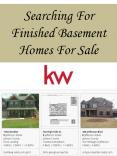 Searching For Finished Basement Homes For Sale