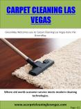 Carpet Cleaning Las Vegas PowerPoint PPT Presentation