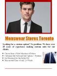 Menswear Stores Toronto PowerPoint PPT Presentation