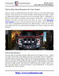 Tips to Buy Steel Bumpers for Your Trucks