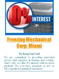 Freezing Mechanical Corp, Miami PowerPoint PPT Presentation