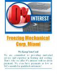 Freezing Mechanical Corp, Miami PowerPoint PPT Presentation
