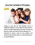 How to Plan Your Studies for PTE Academic PowerPoint PPT Presentation