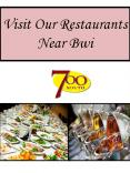 Visit Our Restaurants Near Bwi PowerPoint PPT Presentation