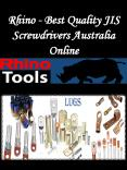 Rhino - Best Quality JIS Screwdrivers Australia Online PowerPoint PPT Presentation