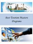 Best Tourism Masters Programs PowerPoint PPT Presentation