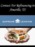 Contact For Refinancing in Amarillo, TX PowerPoint PPT Presentation
