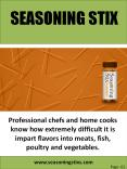 Seasoning Stixs PowerPoint PPT Presentation