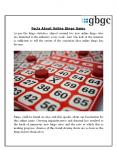 Facts About Online Bingo Game PowerPoint PPT Presentation