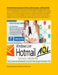 AOL Mail Customer support number USA:+1800-630-7856 PowerPoint PPT Presentation