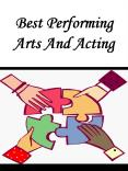 Best Performing Arts And Acting PowerPoint PPT Presentation