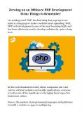Zeroing on an Offshore PHP Development Firm: Things to Remember PowerPoint PPT Presentation