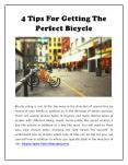 4 Tips for getting the Perfect Bicycle PowerPoint PPT Presentation