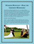 Wedding Musicians – Make the Ceremony Memorable PowerPoint PPT Presentation