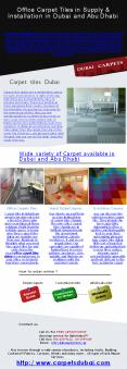 Office Carpet Tiles in Supply & Installation in Dubai and Abu Dhabi PowerPoint PPT Presentation