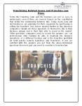 Franchising Related Issues and Franchise Law Firms PowerPoint PPT Presentation