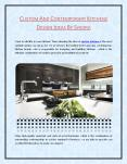 CUSTOM AND CONTEMPORARY KITCHENS DESIGN IDEAS BY SYKORA PowerPoint PPT Presentation