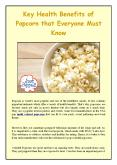 Key Health Benefits of Popcorn that Everyone Must Know PowerPoint PPT Presentation