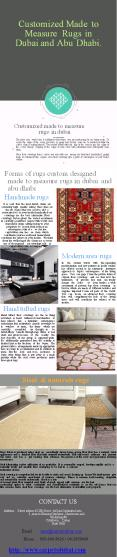Customized Made to Measure Rugs in Dubai and Abu Dhabi (1) PowerPoint PPT Presentation