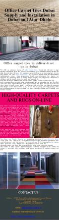Office Carpet Tiles Dubai Supply and Installation in Dubai and Abu Dhabi PowerPoint PPT Presentation