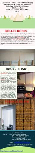 Roller Blinds,Roman Blinds PowerPoint PPT Presentation