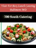 Visit For Box Lunch Catering Baltimore MD PowerPoint PPT Presentation