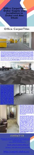Office Carpet Tiles Dubai Supply and Installation in Dubai and Abu Dhabi (1) PowerPoint PPT Presentation