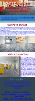Office Carpet Tiles Dubai Supply and Installation in Dubai and Abu Dhabi (2) PowerPoint PPT Presentation