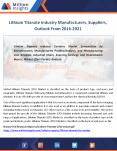 Lithium Titanate Market Price, Volume, Sales, Applications Forecast 2021 PowerPoint PPT Presentation