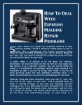 How To Deal With Espresso Machine Repair Problems PowerPoint PPT Presentation