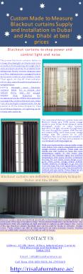 Custom Made to Measure Blackout curtains Supply and Installation in Dubai and Abu Dhabi at best prices (1) PowerPoint PPT Presentation