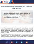Manganese Sulfate Industry Demand By Trends, Growth Forecast 2021 PowerPoint PPT Presentation