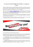Are You In Search Of Reliable Parcel Delivery Company In Perth PowerPoint PPT Presentation