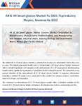AR & VR Smart glasses Industry Segmentation, Market Region, Outlook To 2022 PowerPoint PPT Presentation