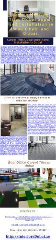 Office flooring Tiles Dubai PowerPoint PPT Presentation