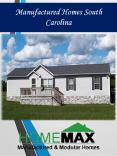 Manufactured Homes South Carolina PowerPoint PPT Presentation