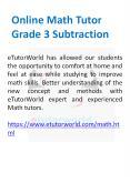 Online Math Tutor Grade 3 Subtraction PowerPoint PPT Presentation