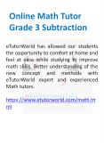 Online Math Tutor Grade 3 Subtraction PowerPoint PPT Presentation