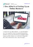 3 Dos & Don'ts of Setting Up an Online Business! PowerPoint PPT Presentation