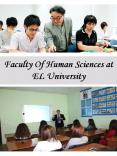 Faculty Of Human Sciences at EL University PowerPoint PPT Presentation